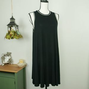 American Eagle Black Shift Open Back Tank Dress M